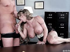 Holly Halston is so wet and so horny that fucks with Clover like a sex crazed animal