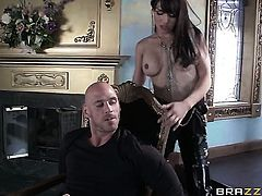 Johnny Sins fucks breathtakingly sexy Cythereas pretty face with his worm