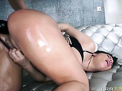 Aleksa Nicole with big boobs gives ass to horny as hell Mick Blue before headjob