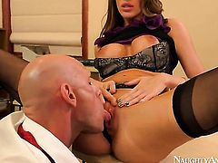 Kortney Kane and hard cocked bang Johnny Sins satisfy their sexual desires together