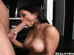 Billy Glide makes his stiff schlong disappear in gorgeous Priya Rais mouth