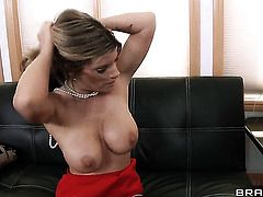 Kristal Summers with gigantic breasts in sexual ecstasy with hard cocked dude James Deen