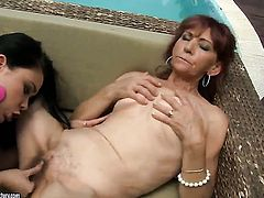Redhead and Irene are two lovely lesbians that love pussy licking