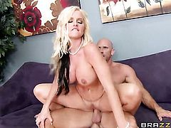 Johnny Sins buries his rock hard sausage in sex crazed Alena Crofts wet hole