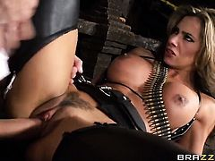 Danny D makes Chicana Esperanza Gomez suck his beefy love wand non-stop