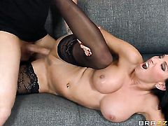 Clover gets pleasure from fucking horny as hell Lezley Zens pussy