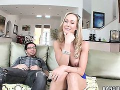 Brandi Love finds it exciting to be drenched in jizz