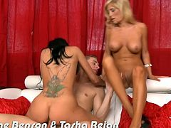 Eat Sleep Porn brings you a spectacularly intense free porn video where you can see Breanne Benson and Tasha Reign getting fucked hard and deep while also going lesbo.