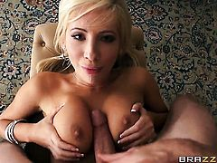 Jordan Ash gets pleasure from fucking Tasha Reign with massive melons in her snatch
