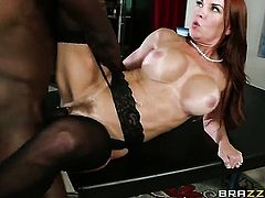 Jason Brown gives passionate Janet Masons mouth a try in oral action