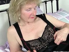 Watch this British grannies Pearl and Sandie as they still loves pleasuring themselves by using dildo or any pointed toys to drill and fondle their old big pussies to orgasm.
