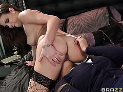 Lily Love gets tongue fucked by Elexis Monroe the way she loves it