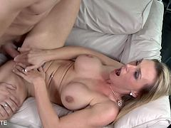 Eat Sleep Porn brings you a hell of a free porn video where you can see how the hot blonde milf babe Tanya Tate gets banged hard and deep into a massively intense orgasm.