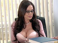 School is normally not a place to fuck. But Kendra Lust can't help attracting attention wherever she goes. Watch Xander Corvus fuck this sexy milf, as she sits in the office, showing off her sexy pussy. Xander gropes her big boobs and squeezes them as hard as he can. He makes sure he sticks his hard cock between her breasts and then, in her hot and wet pussy.