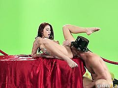 Monique Alexander just loves to blow and cant say No to horny guy Johnny Sins