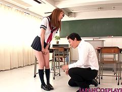 Cosplaying Kirino Kousaka has never been fun for this adorable cutie as she got their fantasies fulfilled getting nailed hard by her teacher in the classroom.
