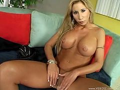 This hot blonde MILF chick loves to take a huge cock in her mouth for a suck in a good blowjob and gets shaved pussy nailed hardcore in orgasm.