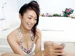 Reiko Kobayaka And Her girlfriend Try Their Best To Satisfy the Lucky chap