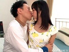 Do you like young sweet Asian girls? The brunette teen in the video appears to be quite excited and allows her horny lover, to play with her juicy cunt. With sensual movements, she gets rid of her dress with floral print and of her panties, and opens widely the legs, showing her pussy. Click to see details!