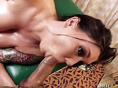 Ramon makes Claire Dames with phat butt suck his thick love torpedo non-stop