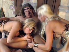 Horny cowgirl with long hair gives a huge dick a superb blowjob then gets her anal logged hardcore in a close up threesome sex