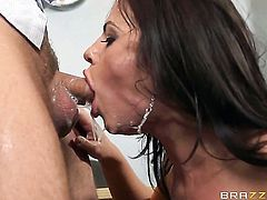Keiran Lee makes his rock solid meat pole disappear in juicy Adriana Chechiks fuck hole