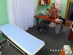 Natural blonde banged in fake hospital
