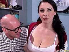 Johny Sins is a guy who loves women and he likes them big breasted. To get into the pants of the most amazing girl in school, Noelle Easton, he organizes a chess game and plans to fuck her after. She has eyes for him too and loves his rock hard body and big bulge in his pants.
