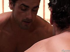 Ryan Driller makes Perfect bodied breathtaker Aurora Snow gag on his meaty man meat