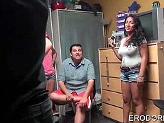 College girls anxious to fuck strip and play sex games at dorm room party
