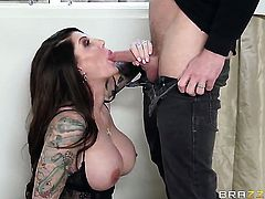 Johnny Sins gets pleasure from fucking Darling Danika with huge hooters in her sweet mouth