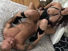 Kurt Lockwood gets turned on by Nicki Hunter and then drills her mouth after backdoor sex