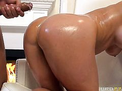 Keiran Lee attacks naughty Holly HeartS asshole with his love torpedo after cock sucking