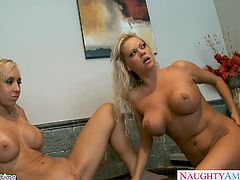 Hot blonde nikita von james gets pussy fucked in threesome