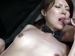There is no dirtier barmaid in Japan than Rino Asuka. She likes to fuck at work, and loves to try new and damn kinky things al the time. She was wondering how would it feel like to be touched by half a dozen guys at once and decided to give it a try. It seems that it felt really awesome, but then came getting fucked by all those guys and things got extra hot and sticky.