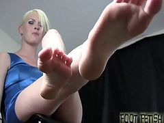 I have seen some guys with a foot fetish before, but you are an honest to God foot freak! Look at you, you are hard as a rock and I barely took off my shoes 5 seconds ago. I bet you want to play with them.