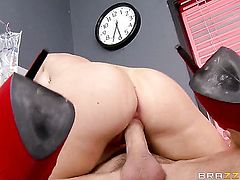 Kendall Karson with massive breasts has hardcore fun with hard dicked dude Johnny Sins