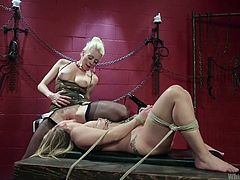 blonde domina facesits her sexy slave