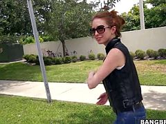 Nice slim amateur girl Chanel Monroe in skin tight jeans gets picked up in the street She gets paid to do dirty things in a van in front of the camera for money Shes a playful one.
