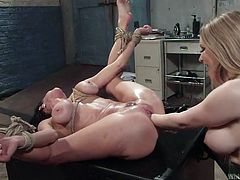 veronica gets double fisted by lesbian lover aiden