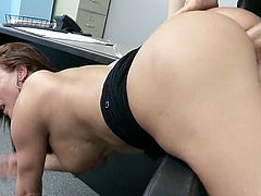 Office slut Tereza gets her pussy fucked by brutal boss