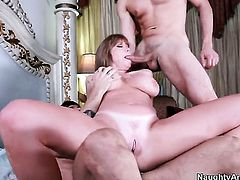 Darla Crane with phat bottom is an anal addict who loves Ryan Drillers sturdy schlong so much
