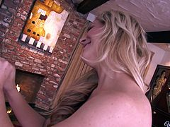 Cherie is a horny blonde, who can get turned on pretty much anywhere, this time it was in the bathroom. But to her relief, her sexy girlfriend Aaliyah was waiting for her in the bed, to caress that cute pussy of her's. She strips in front of Cherie, giving her a view of what she is about to get. She then lets her suck her big boobs and lick her delicious cunt.