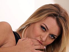 Natalia feels comfortable in front of the camera, which you can easily spot from the uninhibited way she moves her crazy body. The sensual blonde reveals her appetizing buttocks and pussy, fingering continuously. Click to watch the slutty babe's wonderful big tits and relax!