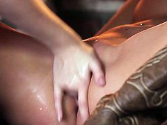 Visit official Babes's HomepageBlonde bimbo is really horny and willing to devour her friend's creamy pussy during this lustful and full of passion lesbian play