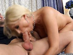 Kris Slater gets seduced into fucking by Diana Doll with gigantic knockers