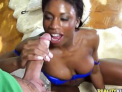 Clover gives incredibly hot Taylor Kushs mouth a try in oral action