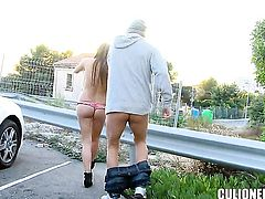 Candy Alexa with phat butt has fire in her eyes as she milks cum loaded love stick of her guy