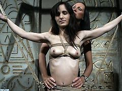 Brunette Aleksandra Black with massive tits loses control in lesbian frenzy with Mandy Bright
