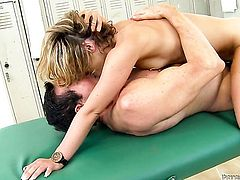 Peter North uses his thick love wand to make blowjob addict Sheena Shaw happy